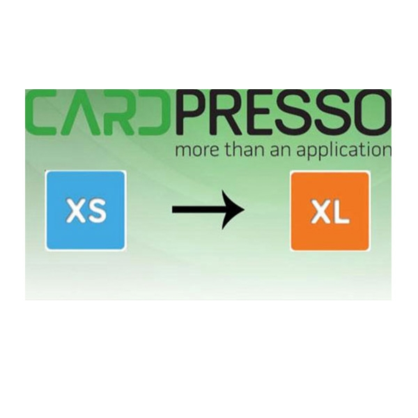 Software opgradering fra CardPresso XS til XL. Køb den på www.rddata.dk