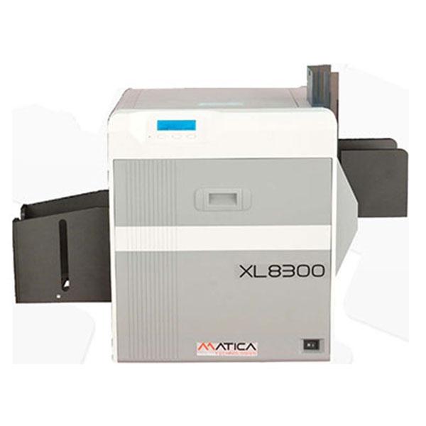 Matica XL 8300 storformat printer - enkeltside print. Til event security badges, adgangskort, kongresmærker mm. i formatet 124 x 85,6 mm. 2 års garanti og fri hotline service hos RD Data