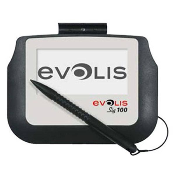 Evolis SIG100 er en underskriftscanner med monokrom touch skærm, som bruger berøringsfølsom teknologi. Med dens glatte overflade fanges den perfekte signatur hurtigt og nemt.  Skærmstørrelse: 95 x 47 mm. Køb den hos RD Data