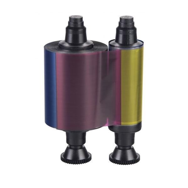 Evolis farvebånd YMCKO til 4-farvet print til model Evolis Pebble, Dualys, Securion og Quantum. Til 200 print, farvebånd med 4 farver og klart overlæg. Produktnummer: R3011, fra RD Data