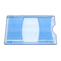 Blåt transparent etui i hård plast, kortholder, transparent, blå, fra RD Data