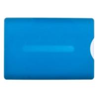 Kortholder blå, lyseblåt transparent etui i hård plast med skyder for nem udtagning af plastkortet. Altid billige kortholdere, nøglesnore mm. hos RD Data