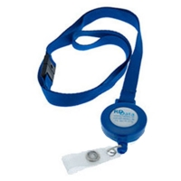 Lanyard blå m. yoyo og 3D etiket med dit design, fra RD Data