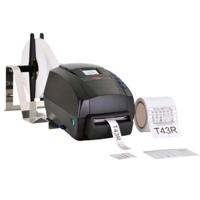 T43R care label printer med indbygget kniv, med Sbarco software fra RD Data