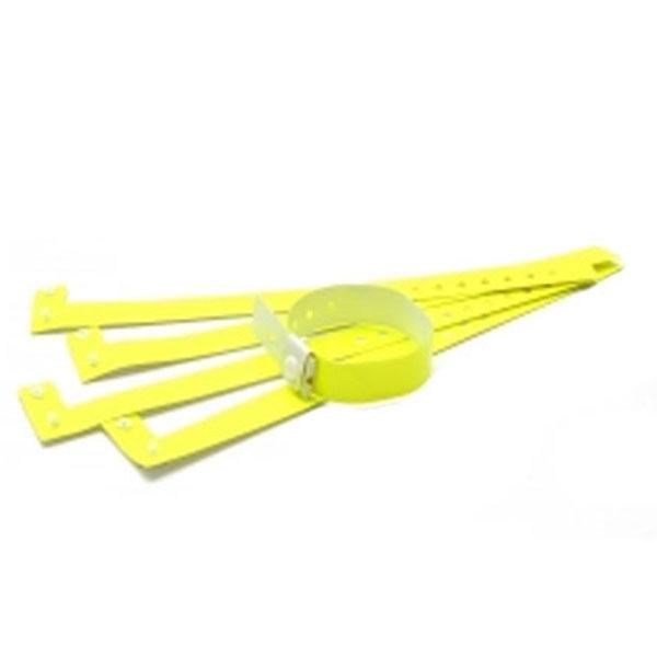 Vinyl armbånd gul 20 mm Justerbar længde