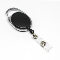 Sort, praktisk og kraftig yoyo med nylonsnor, stærk fjederbelastet metalkrog og metaltryklås på båndet, fra RD Data