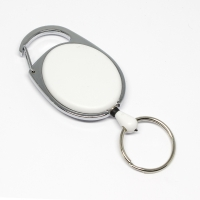praktisk og kraftig yoyo med nylonsnor, stærk fjederbelastet metalkrog og nøglering, fra RD Data.