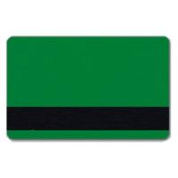 Grønt plastkort med blank overflade og LoCo magnetstribe, billige plastikkort fra RD Data