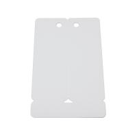 Hvidt 2-delt plastkort på langs m. hul. Kortet deles med et let vrid, når det er printet