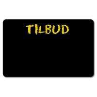 Prisskilt med tekst, tilbud prisskilt, sort plastkort, billige plastkort fra RD Data