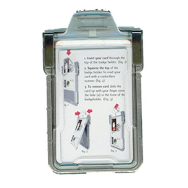 Kraftig kopisikker kortholder, der beskytter Dankort o. lign. mod uautoriseret kopiering, fra RD Data