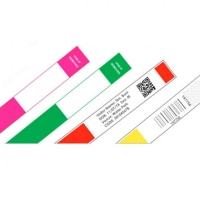 ID-armbånd til etiketprinter, orange rulle med 250 stk, fra RD Data
