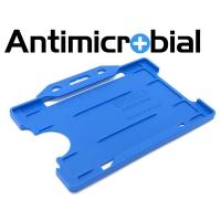 Antibakteriel kortholder, blå, til medicinalindustrien, sundhedssektoren, hjemmeplejen mv., fra RD Data