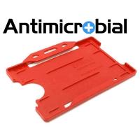 Antibakteriel kortholder, rød, til medicinalindustrien, sundhedssektoren, hjemmeplejen mv., fra RD Data