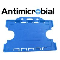 Antibakteriel kortholder til 2 kort, blå, til medicinalindustrien, sundhedssektoren, hjemmeplejen mv., fra RD Data