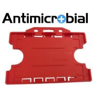 Antibakteriel kortholder til 2 kort, rød, til medicinalindustrien, sundhedssektoren, hjemmeplejen mv., fra RD Data