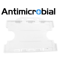 Antibakteriel kortholder til 2 kort, transparent, til medicinalindustrien, sundhedssektoren, hjemmeplejen mv., fra RD Data