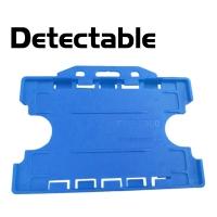 Detekterbar, antibakteriel kortholder, dobbelt, blå, udviklet specielt til fødevareindustrien, fra RD Data