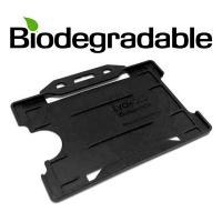 Biologisk nedbrydelig kortholder af 100 % genbrugsplast, sort, miljøvenlig kortholder fra RD Data
