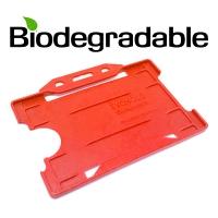 Biologisk nedbrydelig kortholder af 100 % genbrugsplast, rød, miljøvenlig kortholder fra RD Data