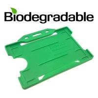 Biologisk nedbrydelig kortholder af 100 % genbrugsplast, grøn, miljøvenlig kortholder fra RD Data