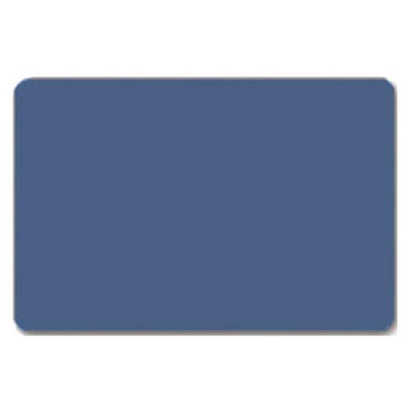 Fødevaregodkendt plastkort, blåt gennemfarvet, blank overflade, ISO standard, fra RD Data
