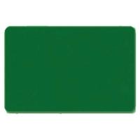 Fødevaregodkendt plastkort, grønt gennemfarvet, blank overflade, ISO standard, fra RD Data