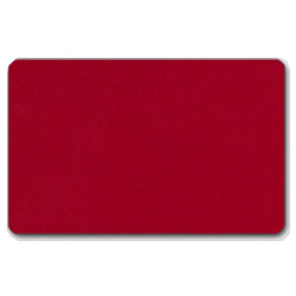 Fødevaregodkendt plastkort, rødt gennemfarvet, blank overflade, ISO standard, fra RD Data