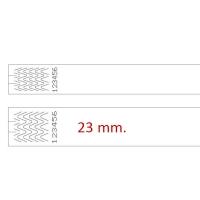 Armbånd til laserprinter 23 mm. Nu kan du printe armbånd uden at investere i en specialprinter. Disse armbånd printes arkvis i en ganske almindelig laserprinter, og deles efter print. Fra RD Data