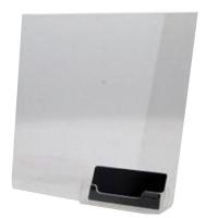 Kortholder A4 bordmodel. Med plads til info eller reklame. Kortholder i kraftigt transparent plastik, stående model til bord eller hylde. Alt i plastkort, kortholdere og tilbehør hos RD Data