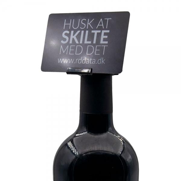 Prisskilteholder til flasker 25 mm, sort