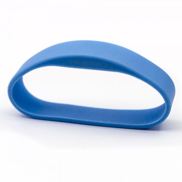 Silikone armbånd blå, Salto formateret