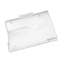 Kortholder horisontal, til 1 eller 2 kort, med lås