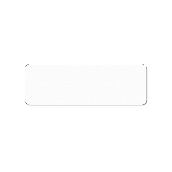 Plastkort hvidt 150x50