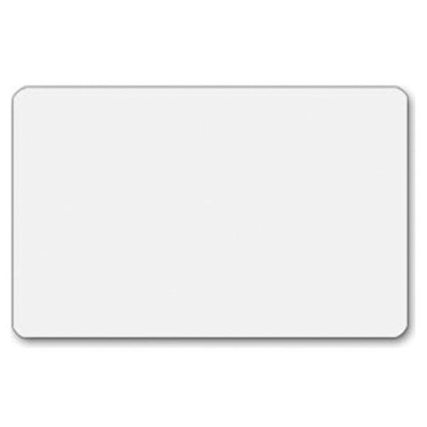 Plastkort hvid, mat