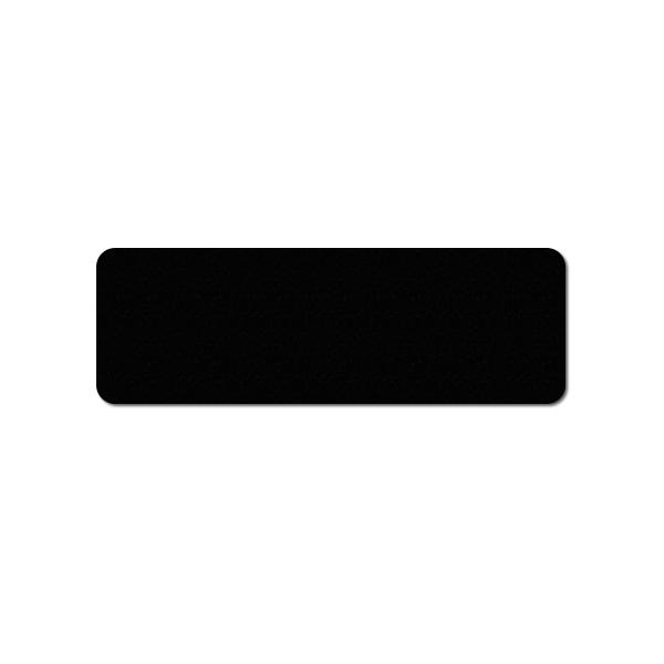 Plastkort sort, mat 150x50