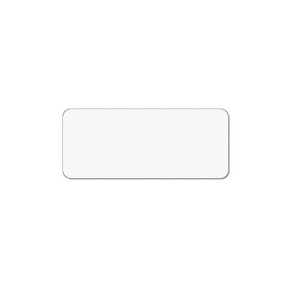 Plastkort hvidt 120x50