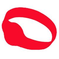 Silikone armbånd rød/ Mifare S50 1Kb. chip Ø65mm